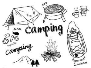 キャンプ用品の絵